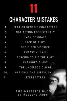 This infographic is for writing in general, but these mistakes are also best avoided by dungeon masters creating dungeons and dragons NPC, and dnd players working on their original characters, too. Creative Writing Prompts, Book Writing Tips, Writing Words, Fiction Writing, Essay Writing, Cake Writing, Script Writing, Writing Help, Writing Ideas