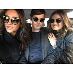 Pin for Later: 110 Times Shay Mitchell Looked Superglam on Instagram  Chillin' with her costars Tyler Blackburn and Lucy Hale. This is one good-looking crowd.