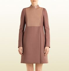 Gucci wool and leather asymmetric coat