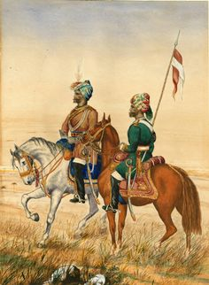 Indian Native Cavalry by Robert Brereton British Indian, British Army, Colonial, Bengal Lancer, Army Pics, Indiana, Age Of Empires, Indian Army, Freedom Fighters