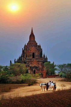 Old Bagan Myanmar at dusk Photo by Ly Hoang Long - National Geographic Myanmar Travel, Burma Myanmar, Asia Travel, Places To Travel, Places To See, Places Around The World, Around The Worlds, Shwedagon Pagoda, Bagan