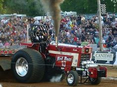 An evening at the tractor pull