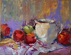 Milk Pitcher with Apples by Debbie High Oil ~ 16 x 20
