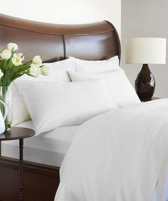 Take a look at this White Grand Patrician 420-Thread Count Sheet Set on @zulily today!