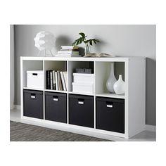 TJENA Caja con tapa - negro - IKEA