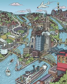 72 best Maps of Pittsburgh, PA images on Pinterest | Maps, Cards and ...