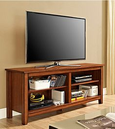 "W. Designs 58"" Rustic Brown TV Stand 