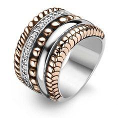 Ti Sento Ring 1835ZR SterlingSilver,RoseGold&Cubic Zirconia
