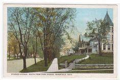 Sturges Avenue Mansfield Ohio 1925 postcard