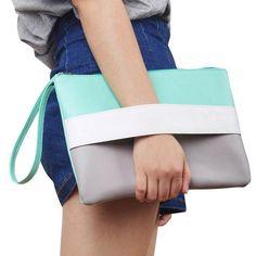 Fashion Women Handbag Solid Patchwork Lady Day Clutches New Fashion Soft Girl Zipper Packet Fashion Female Casual Bags women bag