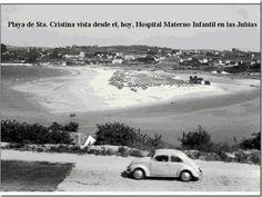 Playa de santa cristina, vista desde lo que hoy es el Hospital Materno Infantil