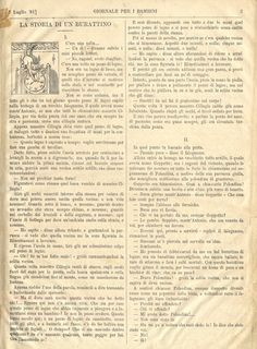 Pinocchio's first appearance in 1881 Giornale per I Bambini. Get a free template and fun, unique teaching/activity ideas for PINOCCHIO by Carlo Collodi at  https://litwits.com/pinocchio/.