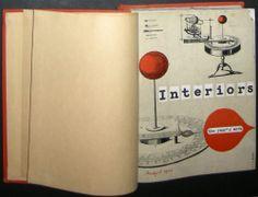 1950 51 Charles Eames CSH NOS 8 9 Interiors 6 Vol Bound Set Finn Juhl Wormley   eBay Charles Eames, Interiors, Ebay, Decoration Home, Decor, Deco