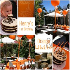 backyard party decorating ideas | ... nothing better than two simple colors to theme your child's party