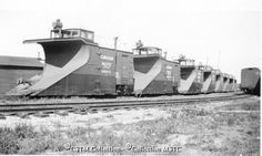 Snowplows at Ottawa west - 1931 Old Train Pictures, Ottawa Valley, Canadian Pacific Railway, Train Engines, Snow Plow, Train Car, Steam Locomotive, Train Station, The Past