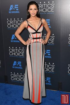 ANNET MAHENDRU IN HERVÉ LÉGER BY MAX AZRIA AT THE 2015 CRITICS' CHOICE TELEVISION AWARDS
