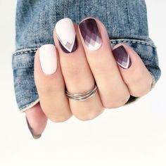 Dark Purple Diamond Nails by Melissa Plante Custom nail wraps Dark Purple Nails, Purple Nail Art, Acrylic Nails, Gel Nails, Manicure, New Nail Art Design, Nail Art Designs, Diamond Nails, Purple Diamond