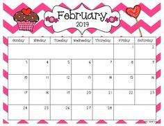 2019 - 2021 Editable Calendar months) - PDF Version by Sarah Kirby Preschool Calendar, Classroom Calendar, Kids Calendar, Calendar Pages, Calendar Ideas, Editable Monthly Calendar, Printable Calendar Template, Free Printable Calendar, Monthly Calendars