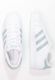new products 4d3b3 b83c4 Chaussures adidas Originals SUPERSTAR - Baskets basses - white tactile  green blanc  100,