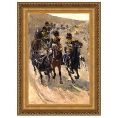 Design Toscano The Yellow Riders, 1886 by Breitner Framed Painting Print on Canvas Size: Grande