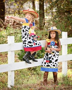 Disney dress Jessie cowgirl Toy Story baby girl 1st Birthday Party size newborn available in 3 6 9 12 18 months 2t 3t 4t 5 6 7 8 9 10. $39.50, via Etsy.