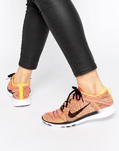 Nike Free TR Flyknit Yellow Trainers