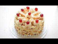 Die ALLER BESTE MALAKOFF Torte!   österreichische Sahnetorte - YouTube Cheesecake, Desserts, Recipes, Food, Youtube, Recipe, Bakken, Cream Pie, Food Food