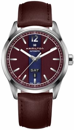 @hamiltonwfan Watch Broadway Automatic Day Date #add-content #basel-17 #bezel-fixed #bracelet-strap-leather #brand-hamilton #case-material-steel #case-width-42mm #date-yes #day-yes #delivery-timescale-call-us #dial-colour-burgundy #gender-mens #luxury #new-product-yes #official-stockist-for-hamilton-watches #packaging-hamilton-watch-packaging #price-on-application #style-dress #subcat-american-classic #supplier-model-no-h43515875 #warranty-hamilton-official-2-year-guarantee…