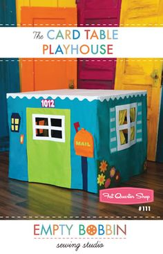 Card Table Playhouse. Must become an expert at sewing ASAP and make this for my cute nephew Tyce!