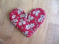 Sew Many Ways...: Tool Time Tuesday...Fabric Heart Bookmark
