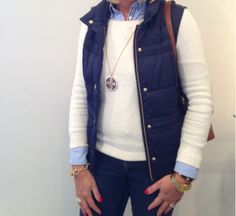 We love how our customer accessorized her outfit with this long necklace & chain bracelet! jewelboxonline.com #LoveJewelBox