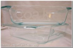 The Real Thing with the Coake Family: Homemade Christmas Gifts ~ Etched Glass Pans #gifts