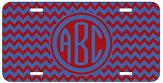 Personalized Monogrammed Chevron Red Purple Car License Plate Auto Tag Top Craft Case http://www.amazon.com/dp/B00LOWOTT6/ref=cm_sw_r_pi_dp_.dptub0AFXZB4