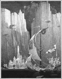 Franklin Booth, pen and ink drawing via http://goldenagecomicbookstories.blogspot.com/