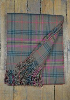 Luxury Lambswool Blanket in Kennedy Weathered Tartan  | The Tartan Blanket Co.