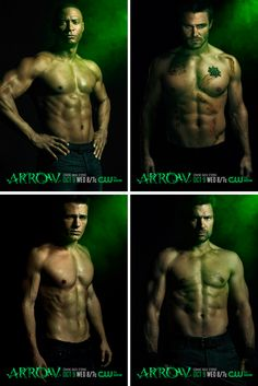 Arrow Season 2 posters shirtless - Never seen it, might have to start watching it now..