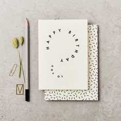 Hand printed greeting card, featuring an original illustrated design.Printed onto a luxury cream card & accompanied by a confetti design envelope. Birthday Card Design, Birthday Cards, Cute Cards, Diy Cards, Birthday Questions, Karten Diy, Thanks Card, Luxury Card, Stationery Items