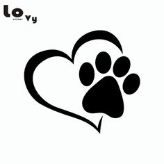 Cute Dog Paw with Love Heart Wall Stickers Cartoon Animal Adopt Dog Cat Love Pet Wall Decals for Bedroom Home Decor Wall Stickers Cartoon, Car Stickers, Decoration Stickers, Animal Nutrition, Dog Nutrition, Love Pet, Dog Tattoos, Dog Paws, Pet Health
