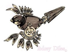 sparrow tattoo design - Click image to find more tattoos Pinterest pins