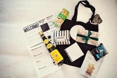 Destination wedding goodie bag, photo by Marianne Taylor