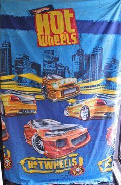 MATTEL HOT WHEELS CARS S/BED QUILT DUVET COVER ONLY BOYS BLUE EXC HTF RP$60+  #MATTELHOTWHEELS