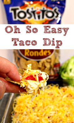 Six Ingredient Oh So Easy Taco Dip Recipe