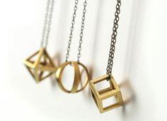 Geometric Necklace in Bronze Juliet Jewelry - Made in Chicago www.julietjewelry.com