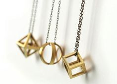 Geometric Necklace in Bronze  Juliet Jewelry - Made in Chicago www.julietjewelry.com