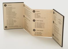 Gossip Menu by Grafix Design Studio | visual communication. graphic design. menu design. restaurant menu. layout. grid. hierarchy. typography. accordion fold.