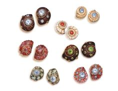 Seashell Earrings - Shown in several different colors