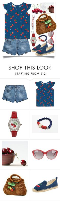 """""""Cherries in fashion"""" by natalyapril1976 on Polyvore featuring Gucci, Betsey Johnson, Yves Saint Laurent, Patricia Green and Kenzo"""