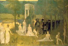 Toulouse-Lautrec Parodie du Bois sacré, de Puvis de Chavannes