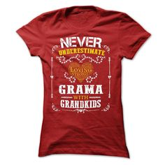 (Tshirt Perfect Choose) Never Underestimate Grama with grandkids Shirt design 2016 Hoodies, Funny Tee Shirts