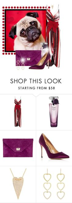 """""""Love Me Tender (Valentine's Day Outfit)"""" by funnfiber ❤ liked on Polyvore featuring Johanna Ortiz, Lancôme, Jimmy Choo, Sergio Rossi, Gabi Rielle and Jennifer Meyer Jewelry"""